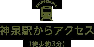 神泉駅からアクセス