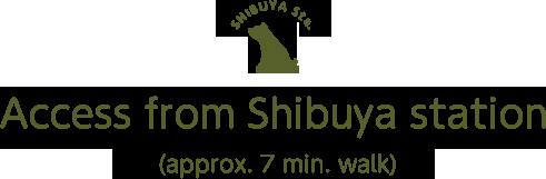 Access from Shibuya Station